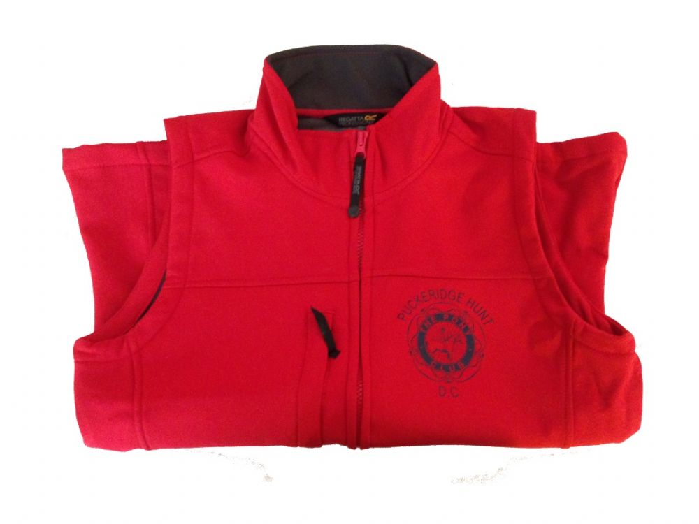 Adults Red Puckeridge Soft shell Body Warmer